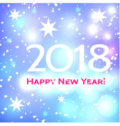 beautiful happy new year 2018 background vector image
