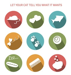 Cat toy icons vector