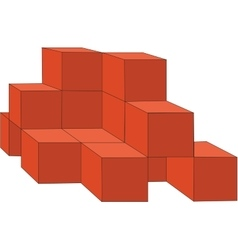 cubes color 14 vector image vector image