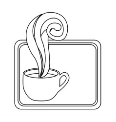 figure small squard symbol of coffee cup vector image