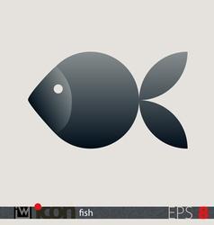 Fish icon logo vector