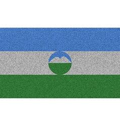 Flags kabardinobalkaria on denim texture vector