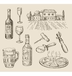 hand drawn food sketch vector image vector image