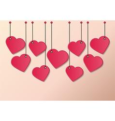 Heart tag vector