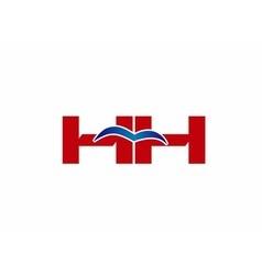 HH Logo Graphic Branding Letter Element vector image