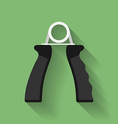 Icon of hand grip exerciser or trainer flat style vector