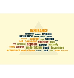 insurance related words vector image vector image