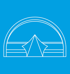 Large dome tent for camping icon outline style vector