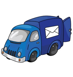 mail car vector image