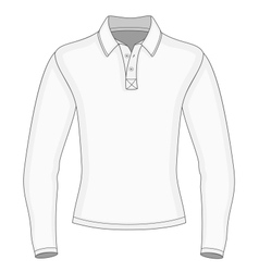 Mens long sleeve polo shirt vector image