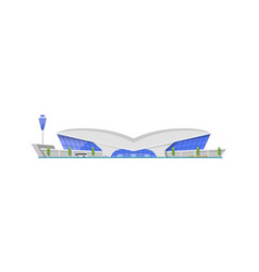 Modern airport terminal building element vector