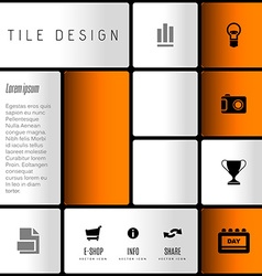 Modern layout vector image