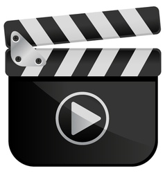 Movie Media Player Film Slate vector image vector image