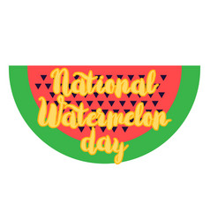 National watermelon day banner vector
