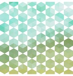 Retro pattern of geometric hexagon shapes vector image vector image