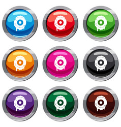 scary eyeball set 9 collection vector image