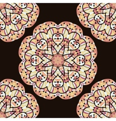Seamless kaleidoscopic mandala unusual design vector