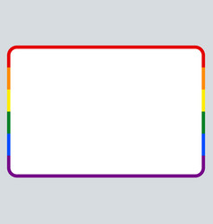 Sticker name tag lgbt rainbow flag vector