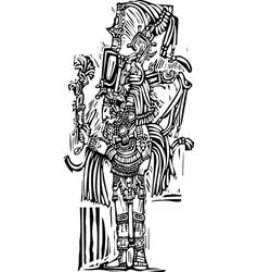 Tall Maya vector image