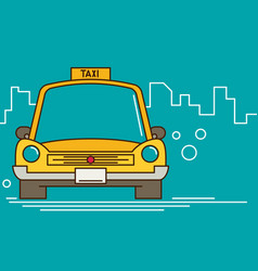 taxi graphic design in flat style vector image