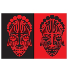 tribal face art vector image