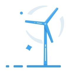 Wind generator flat design style windmill icon vector