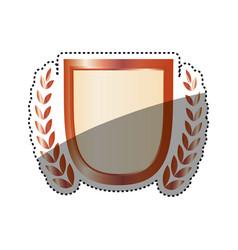 Wreath emblem symbol vector