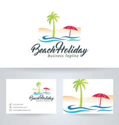 Beach holiday vector