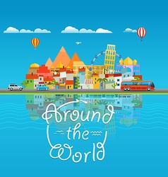 Around the world travelling concept Asia cityscape vector image