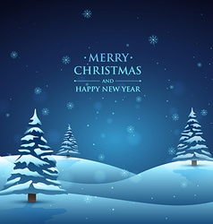 Night christmas scene vector