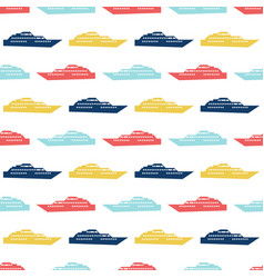 Ship seamless pattern vector