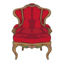 Rococo armchair vector