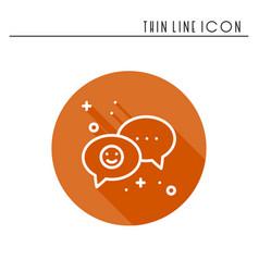 Speech bubble line icon conversation chat dialog vector