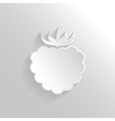 Raspberry icon vector