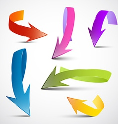 Colorful 3D Arrows Set vector image