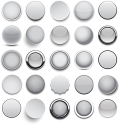 Round grey icons vector image