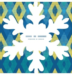 Colorful fabric ikat diamond christmas vector