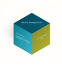 3d color cube vector image vector image