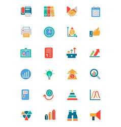Banking and Finance Colored Icons 4 vector image