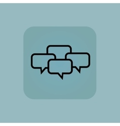 Pale blue chat conference icon vector