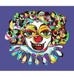 Digital coloring drawing of abstract clown vector