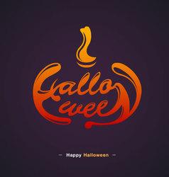 Happy Halloween Typography design vector image