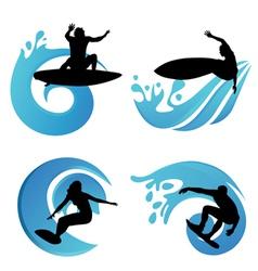 surfing symbols vector image