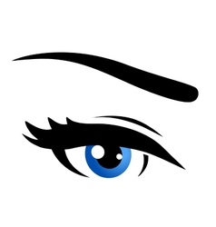 Isolated blue eye vector