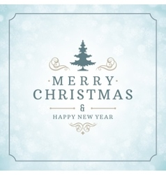Christmas lights with snowflakes and typography vector
