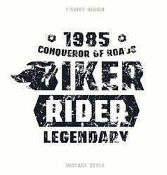 Biker badge with texture vector