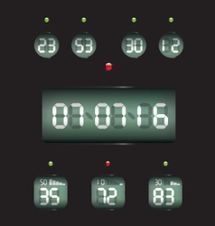 Countdown timer date and clock vector