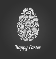 Greeting card with doodle easter egg-5 vector