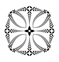 Laurel wreath tattoo Cross ornament Black sign vector image