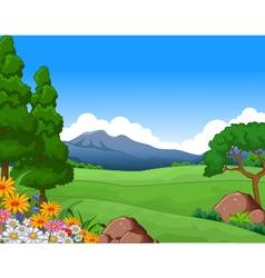 Beautiful summer landscape vector
